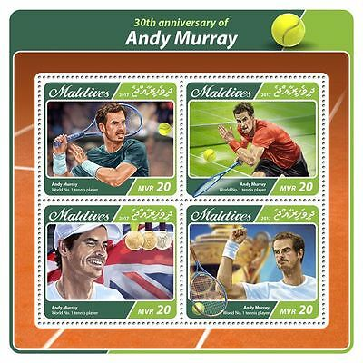 MALDIVES 2017 ** Andy Murray Tennis Player M/S #507aB