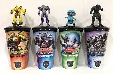 Cup topper figur Transformers: The Last Knight Full Set + collectible cups GL
