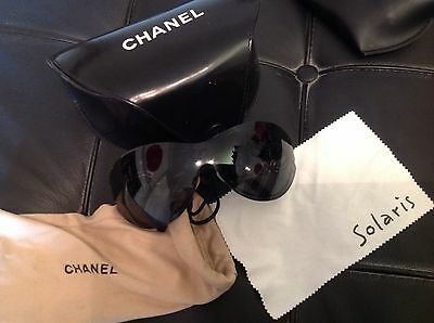 Chanel Black Sunglasses Genuine With Bag And Case