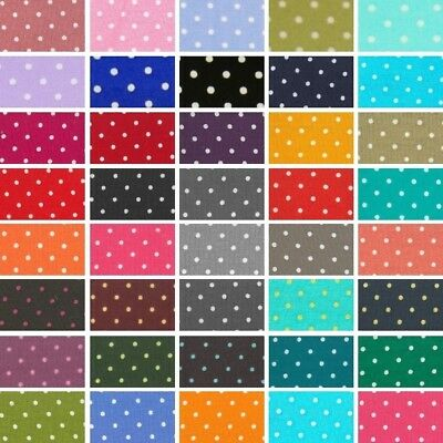 100% Cotton Poplin Fabric (Fabric Freedom)  Tiny 2mm Spots Polka Dots