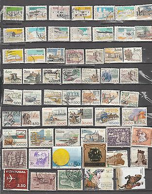 Portugal Mixture , 59 Stamps, All Different, Used, Lot A