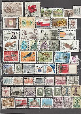 Poland Mixture , 54 Stamps, All Different, Used, Lot A
