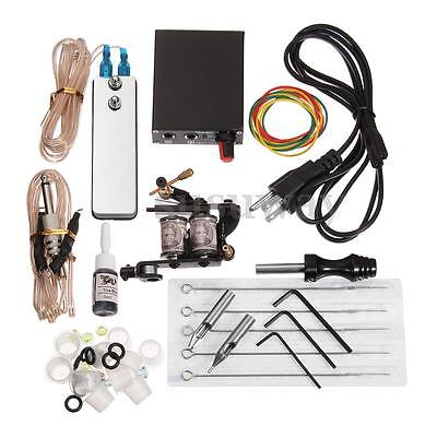 Completi Kit Tatuaggio Macchinetta Tatuaggi Tattoo Machine Gun Power Supply Set