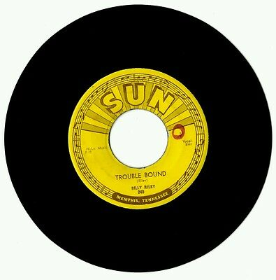 """Billy Riley -Trouble Bound /Rock With Me Baby, ORIGINAL USA SUN (245) 7""""single"""