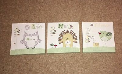 Olive Henri and Friends Set of three Canvas Pictures Babies R Us