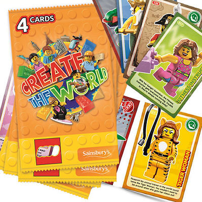 Sainsburys Lego Cards Create The World Trading Card Choose your missing numbers