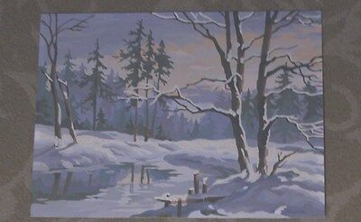 Winter Scene In Woods- Paint By Number-Vintage-12X16