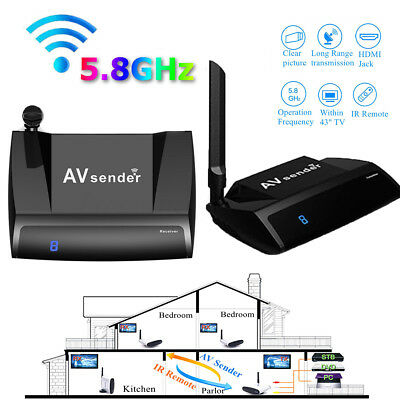 5.8GHz 300M HDMI Wireless AV Sender TV  Audio Video Transmitter Receiver UK Plug