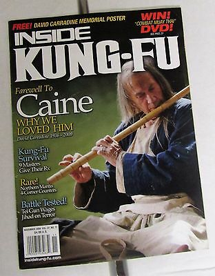 Inside Kung Fu Magazine November 2009 Vol.37 #11 David Carradine