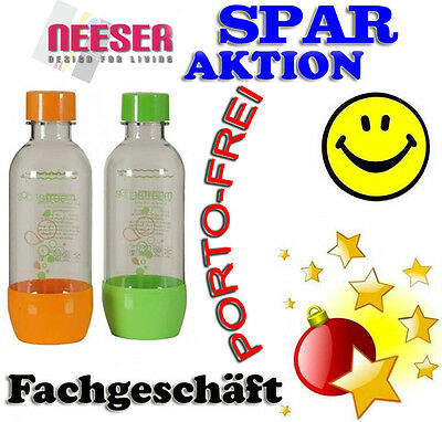 Sodastream DUO PET Sprudler Flaschen 0,5 L SMILIE SONDERPREISAUKTION 7503-3 NEU