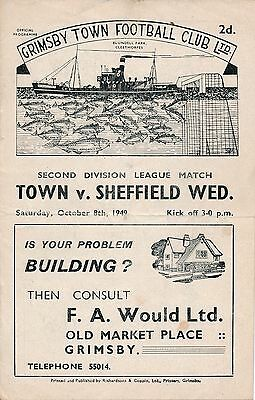 Grimsby v Sheffield Wednesday 1949/50