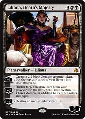 2 X Liliana, Death's Majesty from  amonkhet   Magic the gathering