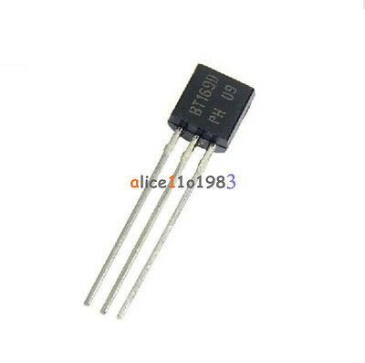 10PCS Unidirectional thyristor BT169D BT169 Logic Level TO-92 400V 0.8A AT