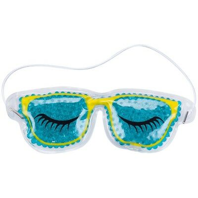 Promobo - Pochette Masque Relaxant Forme Lunette Avec Microbille Chaud Froid Tur