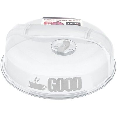 Promobo - Cloche Plat Couvercle Vapeur Micro-ondes GOOD Blanche