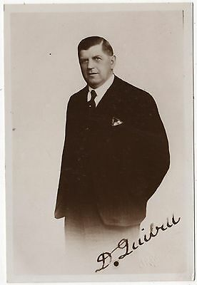 Real Photo Postcard - D. Quibell - Hand Signed - Mp For Brigg & Lincolnshire