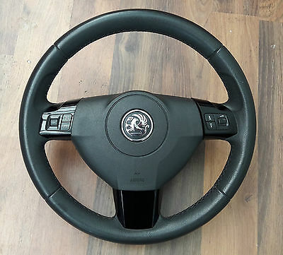 Genuine Vauxhall Astra H Mk5 Leather Steering Wheel Piano Black #1003