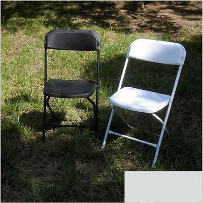 New Set of 5 Plastic Folding Chairs Wedding Party Event Chair Commercial Whi
