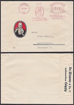 Germany 1934 - Illustrated cover Leipzig - Meter stamp