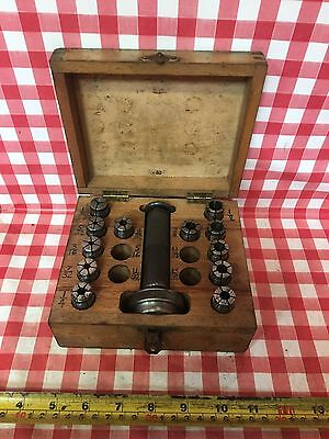 MT 2 Imperial Myford Collet Set with Nose And Closing Tube Boxed Myford-Stuff
