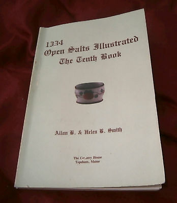 Book: 1334 OPEN SALTS ILLUSTRATED. A B & H B Smith. 10th BOOK. Fully Illustrated