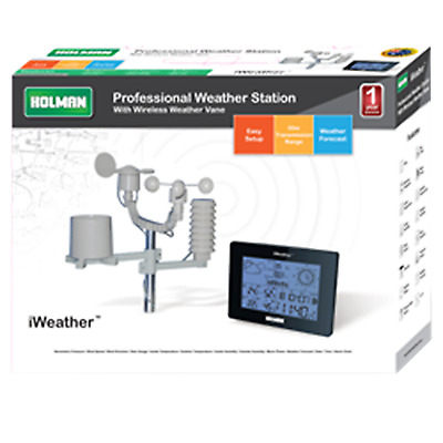 Holman iWeather Digital Weather Station, Large,Easy to read LCD Display Wireless