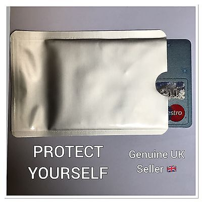 2 x RFID Blocking  Anti Theft Contactless Debit Credit Protector Sleeve Wallets