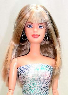 2000 Harley-Davidson Barbie Doll Fully Jointed Re-Dressed Jeans Outfit + Stand