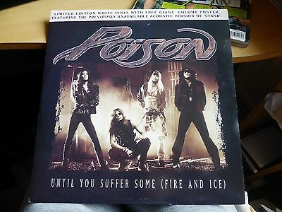 "Poison - Until You Suffer (Some Fire & Ice) - (12"" Vinyl Single clear disc)."