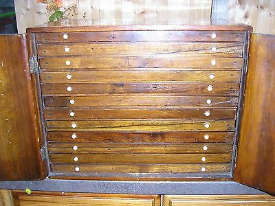 Victorian Antique/vintage Coin Collecting Cabinet.