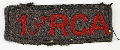 1 LAA RCA WW2 Canadian Shoulder Title Badge