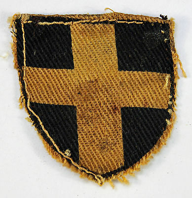 38th (Welch) Division WW2 Printed Cloth Formation Sign Badge