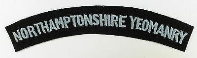 NORTHAMPTONSHIRE YEOMANRY WW2 Shoulder Title Badge