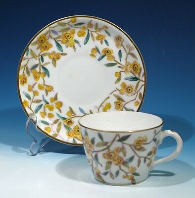 Late Victorian Antique Handpainted China cabinet Cup & Saucer.