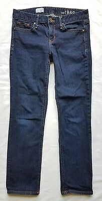 GAP Real Straight Women's Jeans size 26 Dark Wash Low Rise