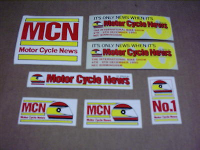 7 Off Mcn Motor Cycle News Stickers 1990 International Bike Show Nec Motorbike