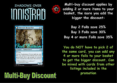 MTG Shadows Over Innistrad SOI Choose your uncommon foil card New Buy 2 save 25%