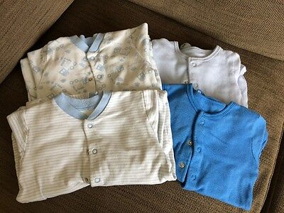 Blue babygrow bundle - Boots and M&S