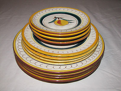 12X Stangl Fruit Plates, made in Trenton NJ, hand painted