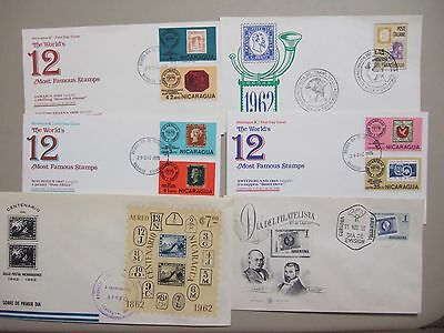 Six Stamp on stamp fdc