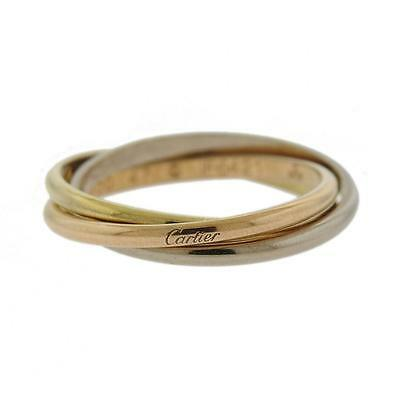 Cartier Trinity 18k Gold Rolling Band Ring Size 47