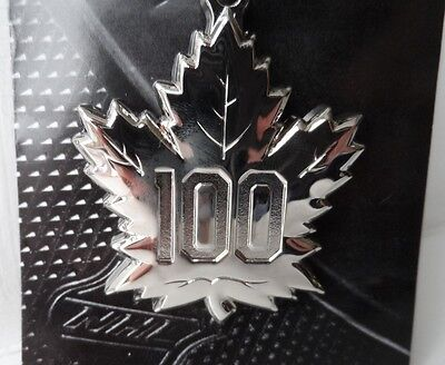 Official TORONTO MAPLE LEAFS 100 YEARS KEY RING 2017 New NHL Pack Canada