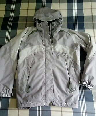 helly hansen lilac and grey ski jacket size 12