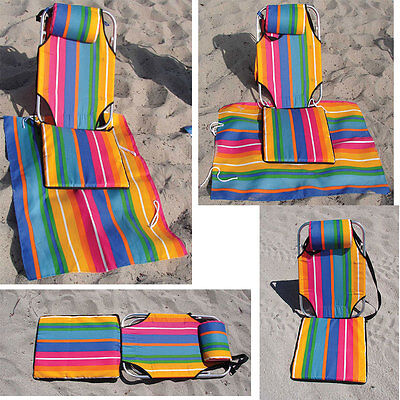 Backpack Portable Folding Beach Lounge lightweight 1.5 lb aluminum camping chair