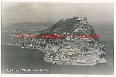 Postcard Aerial View of Gibraltar from the South Local Posted 1954  RP AL032