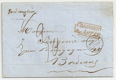 1855 Senegal To France Due Cover, Superb Cancels, Contents, Top Rarity