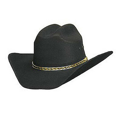 *Lone Star Junior's Cheyenne Canvas Straw Cowyboy Hat Black Small