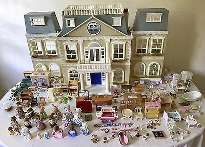 Sylvanian Grand (Regency) Hotel/House Bundle Furnished/Staff 20 Figures Calico