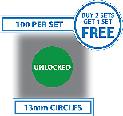 100 X Mobile Phone Network Unlocked Stickers Display Labels Smartphones Cells