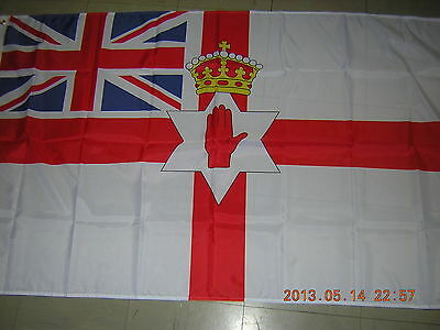 British Empire Flag Northern Ireland Ensign 1953-1972 Irish Red Hand 3ftX5ft GB